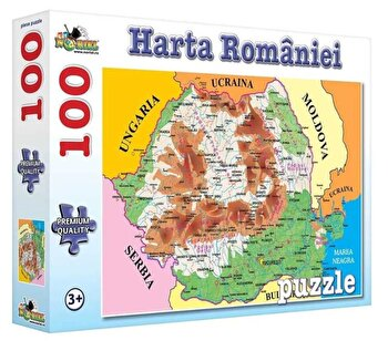 Puzzle Harta Romaniei, 100 piese de la Noriel