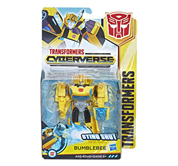 Transformers – Figurina Cyberverse Warrior Bumblebee de la Transformers