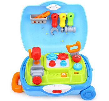Set troler Hola Toys Micul Mester, cu accesorii de la Hola Toys