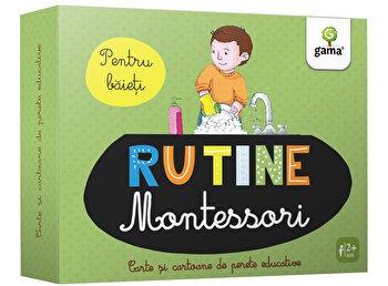 Rutina zilnica Montessori pentru baieti – Cartoane de perete educative si decorative/*** de la Gama