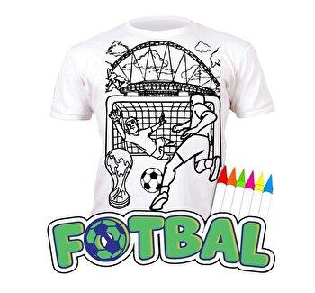 Tricou de colorat cu markere lavabile Fotbal 5-6 ani de la Splat Planet