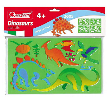 Set creativ pentru copii Sabloane Dinosauri Quercetti de la Quercetti