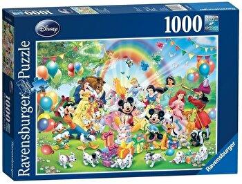 Puzzle Ziua de nastere a lui Mickey, 1000 piese de la Ravensburger