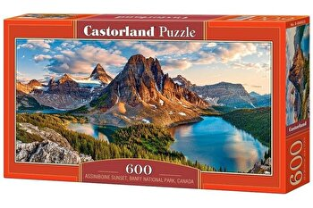 Puzzle panoramic Assiniboine Sunset, Banff National Park – Canada, 600 piese de la Castorland