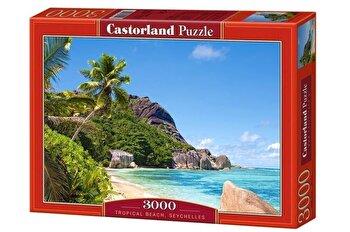 Puzzle Plaja tropicala – Seychelles, 3000 piese de la Castorland