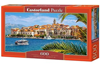 Puzzle panoramic Korcula Croatia, 600 piese de la Castorland