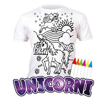 Tricou de colorat cu markere lavabile Unicorni 9-11 ani de la Splat Planet