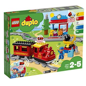 LEGO DUPLO, Tren cu aburi 10874 de la LEGO