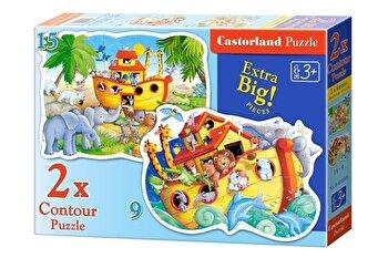 Puzzle 2 in 1 – Arca lui Noe, 24 piese de la Castorland