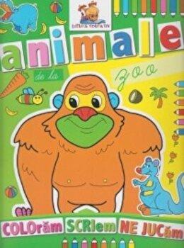 Animale de la zoo. Coloram, scriem, ne jucam/*** de la Lizuka Educativ