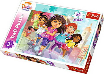 Puzzle maxi Dora alearga, 24 piese de la Trefl