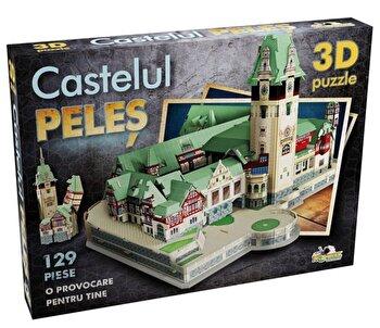 Puzzle 3D Castelul Peles, 129 piese de la Noriel