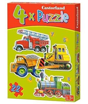 Puzzle 4 in 1 – Vehicule mari, 22 piese de la Castorland