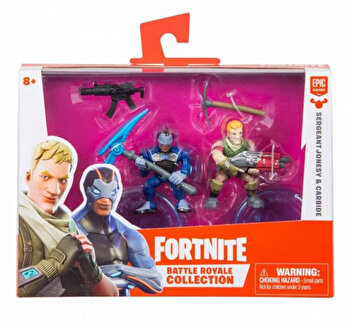Set 2 figurine articulate Fortnite, Carbide si Sgt Jonesey de la Fortnite