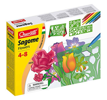 Set creativ pentru copii Forme Flori Quercetti de la Quercetti