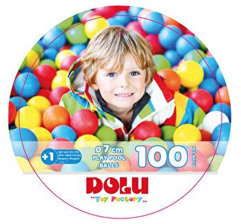Set 100 bile colorate de la DOLU