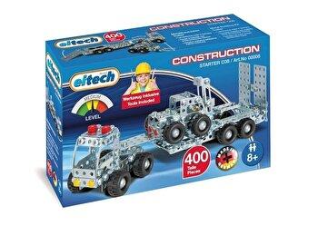 Set constructie – Camion cu remorca si stivuitor, 400 piese de la Eitech