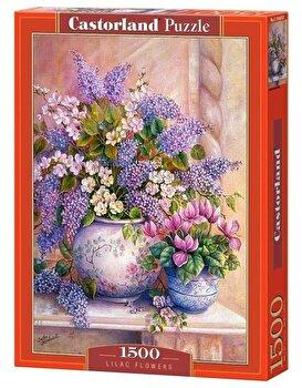 Puzzle Flori liliac, 1500 piese de la Castorland