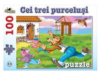Puzzle Cei Trei Purcelusi, 100 piese de la Noriel