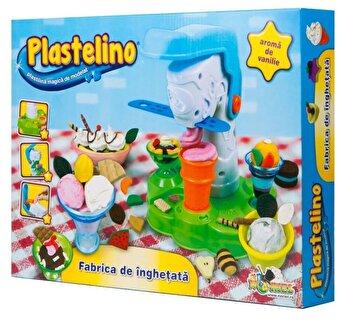 Plastelino - Set Fabrica de Inghetata, 4 culori