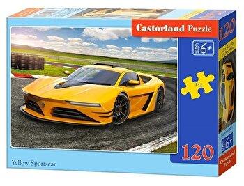 Puzzle Masina sport galbena, 120 piese de la Castorland