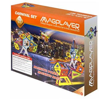 Joc de constructie magnetic – 46 piese de la Magplayer
