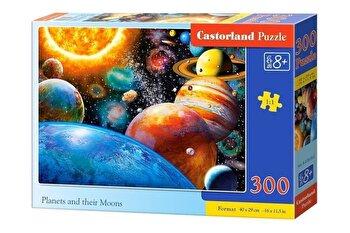 Puzzle Planete si lunile lor, 300 piese de la Castorland