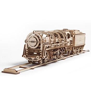 Puzzle 3D – Locomotiva cu abur, 443 piese de la Ugears