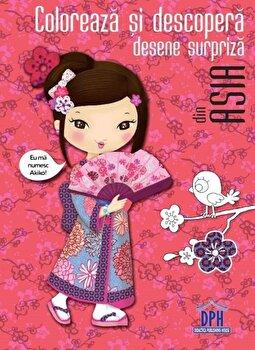 Coloreaza si descopera desene surpriza din Asia/*** de la DPH