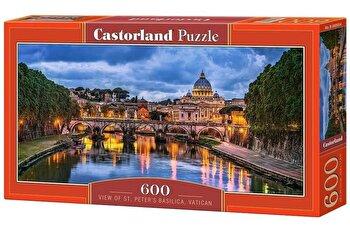 Puzzle panoramic View of St Peter's Basilica – Vatican, 600 piese de la Castorland