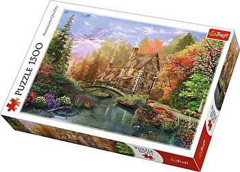 Puzzle Casuta de langa lac, 1500 piese de la Trefl