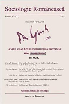 Sociologie Romaneasca. Vol. X, Nr. 3/*** de la Institutul European