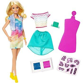 Set de joaca Barbie Crayola si accesorii stampila de la Barbie