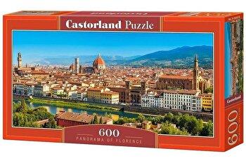 Puzzle panoramic Panorama cu Florenta, 600 piese de la Castorland