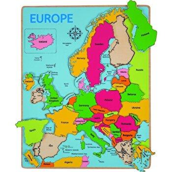 Puzzle incastru Europa, 25 piese de la BigJigs