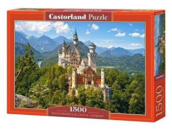Puzzle Castelul Neuschwanstein – Germania, 1500 piese de la Castorland