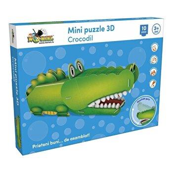 Mini Puzzle 3D Crocodil, 10 piese de la Noriel