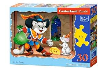 Puzzle Motanul Incaltat, 30 piese de la Castorland
