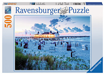 Puzzle Seara la plaja, 500 piese de la Ravensburger