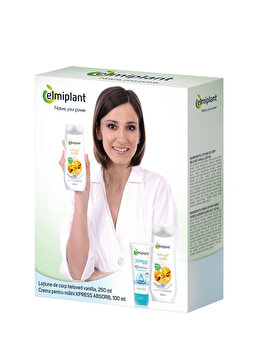 Set cadou Elmiplant (Lotiune de corp cu aroma de vanilie 250 ml + Crema de maini 100 ml) de la Elmiplant