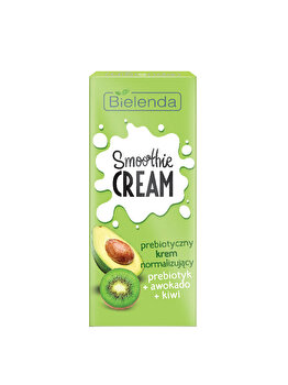 Crema normalizanta cu prebiotice, avocado si kiwi Bielenda Smoothie Cream, 50 ml de la Bielenda