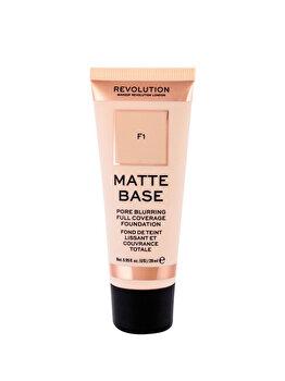 Fond de ten Makeup Revolution London Matte Base, F1, 28 ml de la Makeup Revolution London