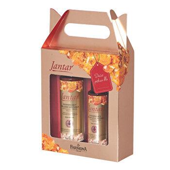 Pachet cadou JANTAR (Balsam regenerant de corp cu platina coloidala, 200ml + Ser regenerat S.O.S pentru maini, 100ml) de la Farmona