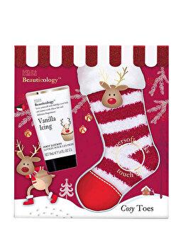 Set cadou Baylis & Harding Beauticology Rudolph (Lotiune pentru picioare, 50 ml + 1 x Pereche de sosete) de la Baylis And Harding