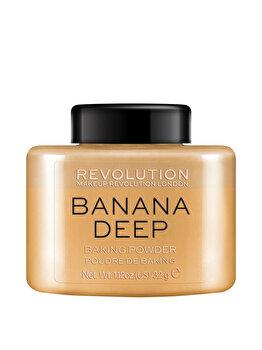 Pudra pentru baking Makeup Revolution London Baking Powder, Banana Deep, 32 g de la Makeup Revolution London