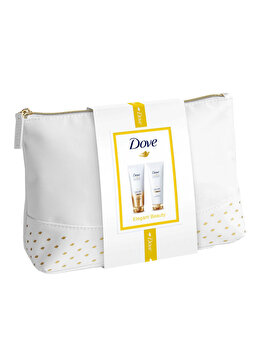 Set cadou Dove Advanced Elegant Beauty Collection (Sampon Dove Advanced Hair Series Pure Care Dry Oil, 250 ml + Balsam Dove Advanced Hair Series Pure Care Dry Oil 250 ml) de la Dove