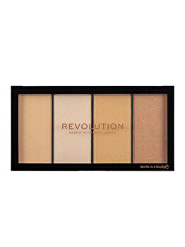 Paleta iluminatoare Makeup Revolution Re-Loaded, Lustre Lights Warm de la Makeup Revolution London