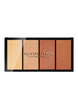 Paleta iluminatoare Makeup Revolution Re-Loaded, Lustre Lights Heatwave de la Makeup Revolution London