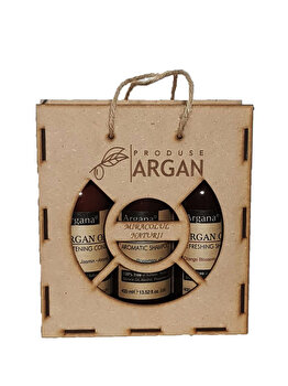 Set cadou Azbane, Argana (Sampon de par cu ulei de argan, 400 ml + Balsam de par, 400 ml + Gel de dus, 400 ml)