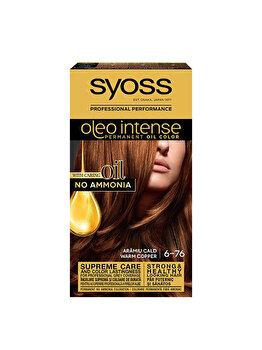 Vopsea de par permanenta fara amoniac Syoss Oleo Intense, 6-76 Aramiu Cald, 115 ml de la Syoss Oleo